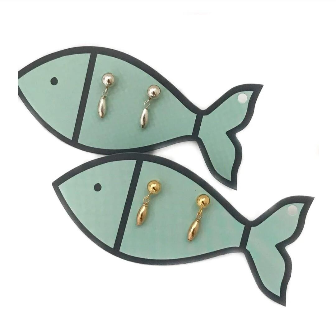 LittleFishBoateak Charleston Rice 2 Bead Earrings