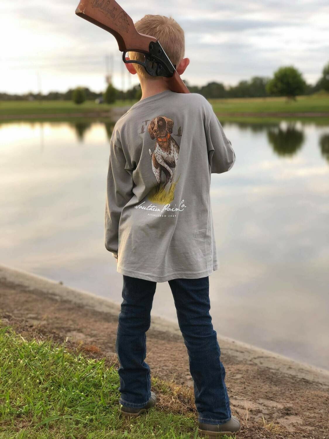 Youth Southern Point Co. Tee- Granite Pointer