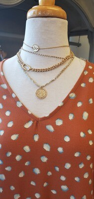 Cassie Layer Coin Necklace