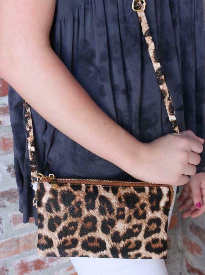 Leopard Clutch/Crossbody