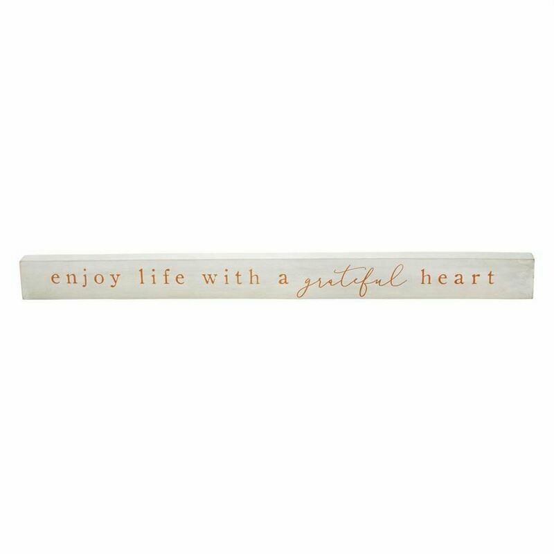 MudPie Enjoy Life Wood Sentiment Stick
