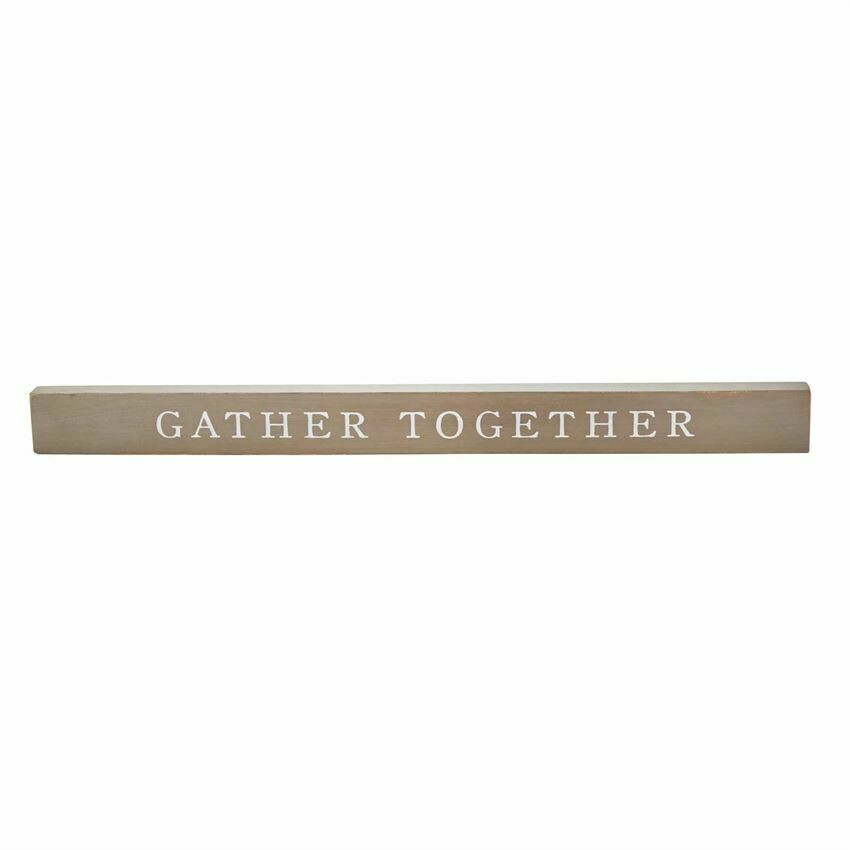 MudPie Gather Fall Wood Sentiment Stick