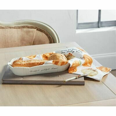 MudPie Thanksgiving Bread Bowl & Towel Set