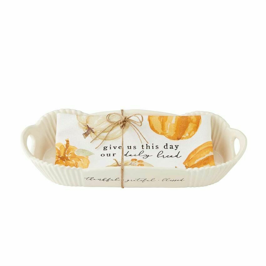 MudPie Thanksgiving Bread Bowl & Towel Set