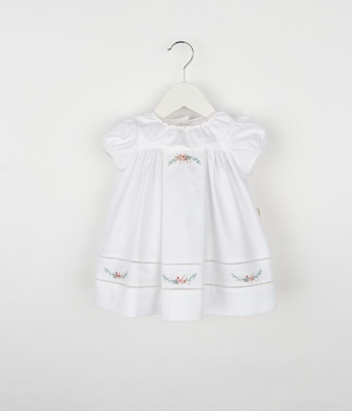 Sophie & Lucas White Rose Ruffle Dress