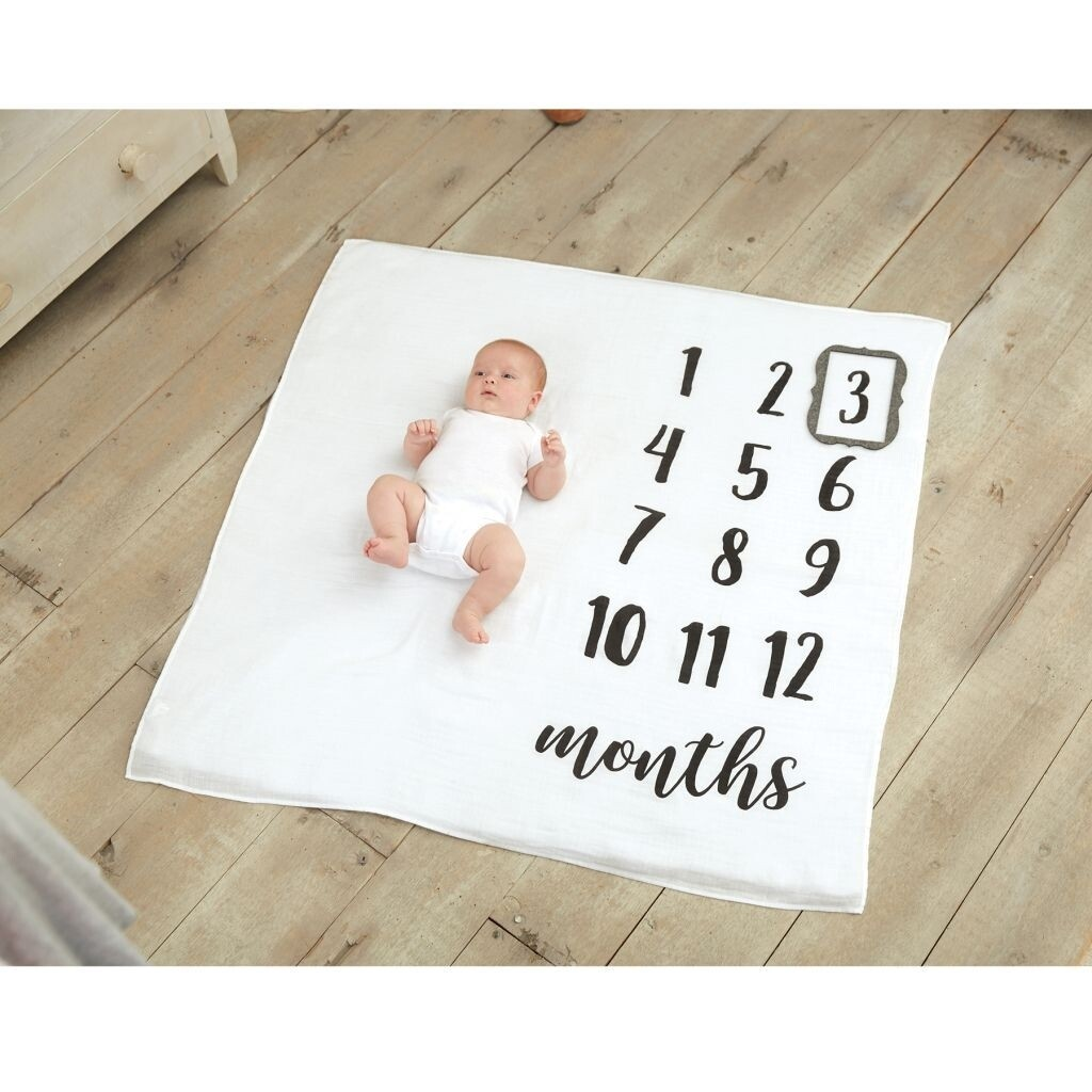 MudPie Monthly Milestone Photo Blanket