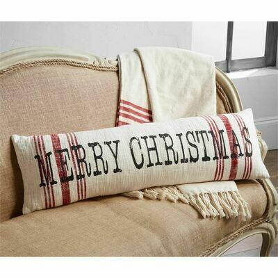 MudPie Merry Christmas Stripe Pillow