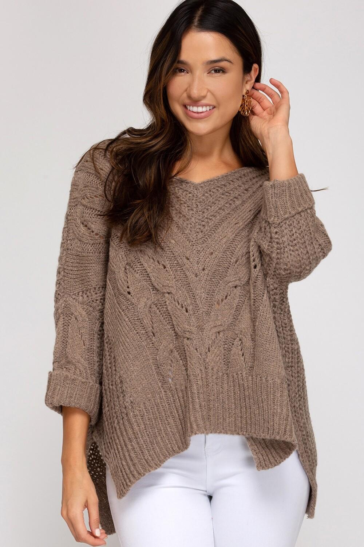 Double Take Sweater- Mocha