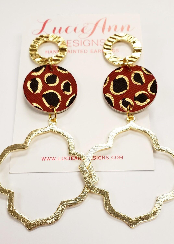 Quatrefoil- Garnet Leopard