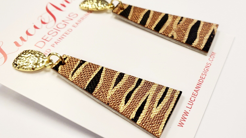 Petite Drop Triangle- Bronze Tiger
