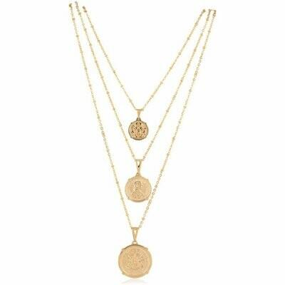 Sahira Emperor Coin Necklace Medium 18