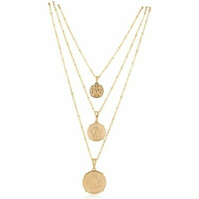 Sahira Emperor Coin Necklace Large 20