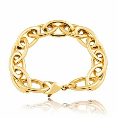 Sahira Frankie Oval Link Bracelet