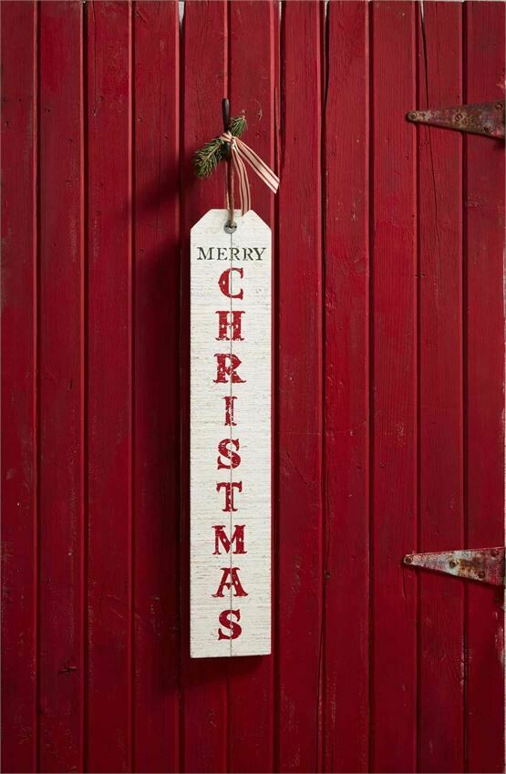 MudPie Welcome and Christmas Reversible Wood Sign