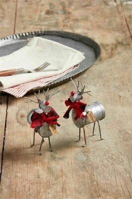 MudPie Reindeer Salt & Pepper Shakers