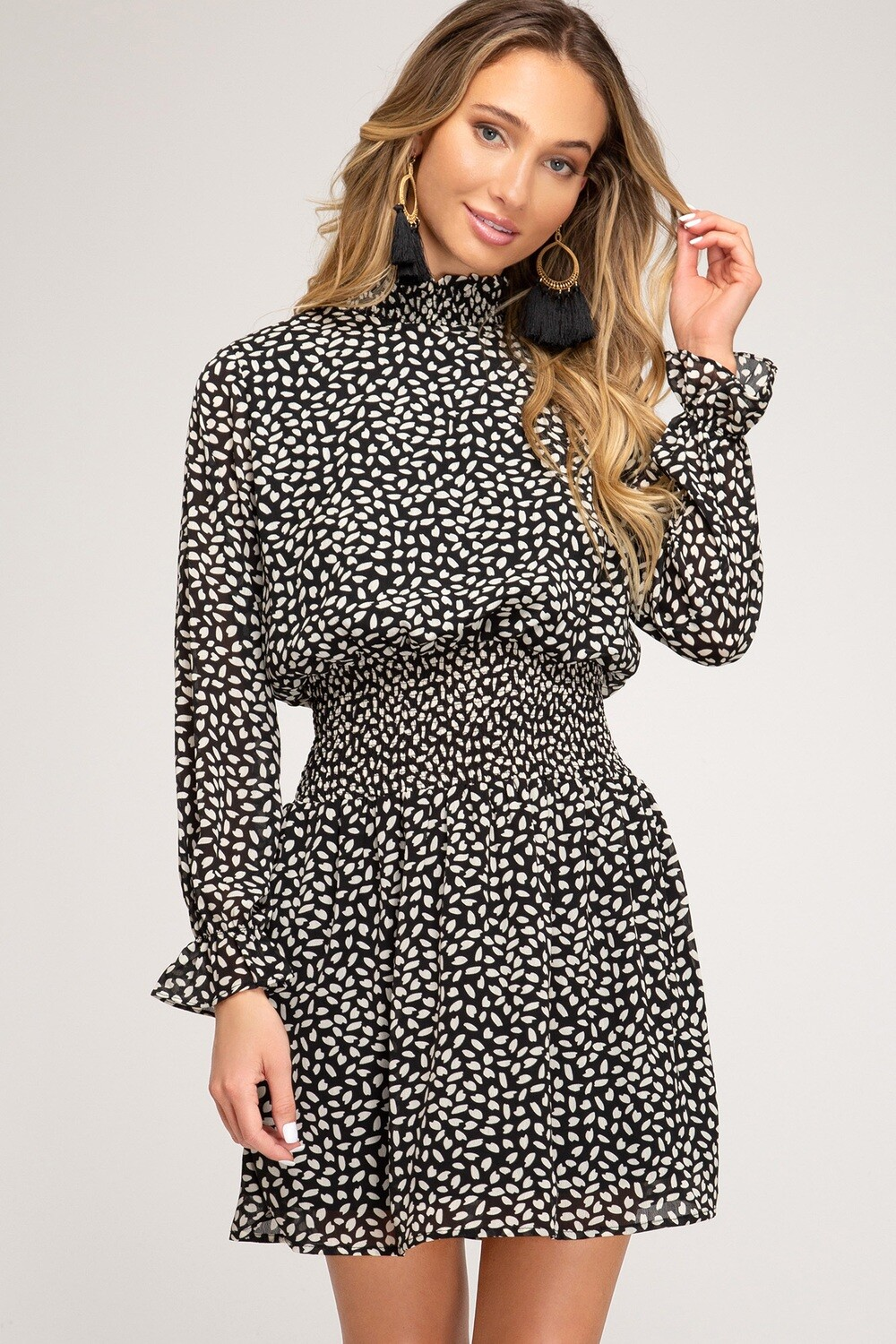 Call You Later Dress-Black