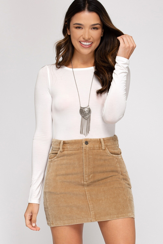 Cozy Cord Skirt