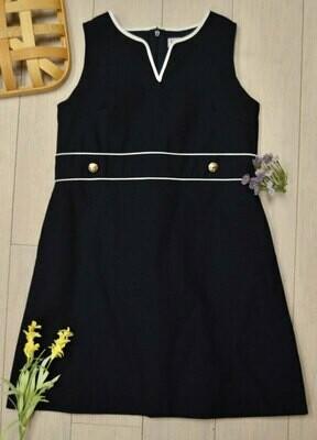 Sophie & Lucas Pique Navy Shift Dress