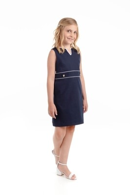 Sophie & Lucas Pique Navy Shift Dress