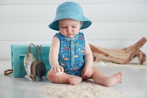 MudPie Mallard Pond Romper with Hat