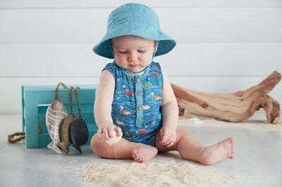 MudPie Mallard Pond Romper with Hat