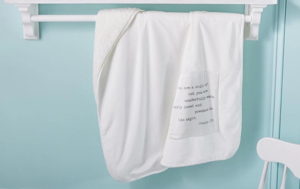 MudPie Psalm Sherpa Blanket