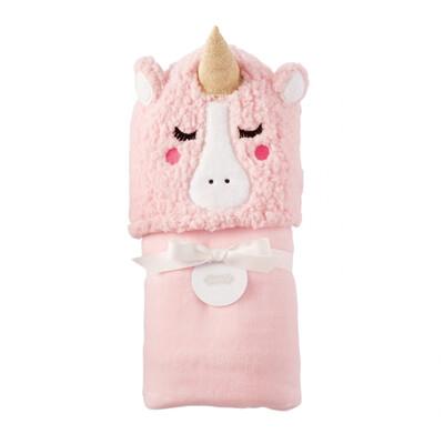 MudPie Unicorn Baby Hooded Towel