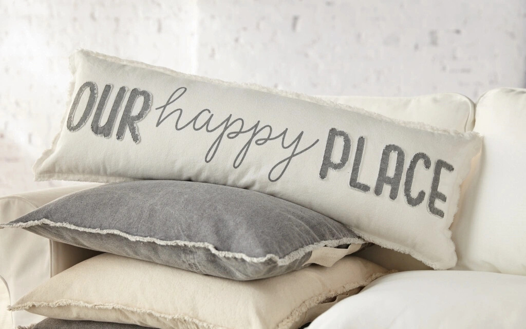 MudPie Our Happy Place Pillow