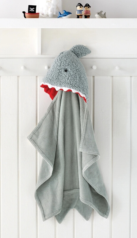MudPie Shark Baby Hooded Towel