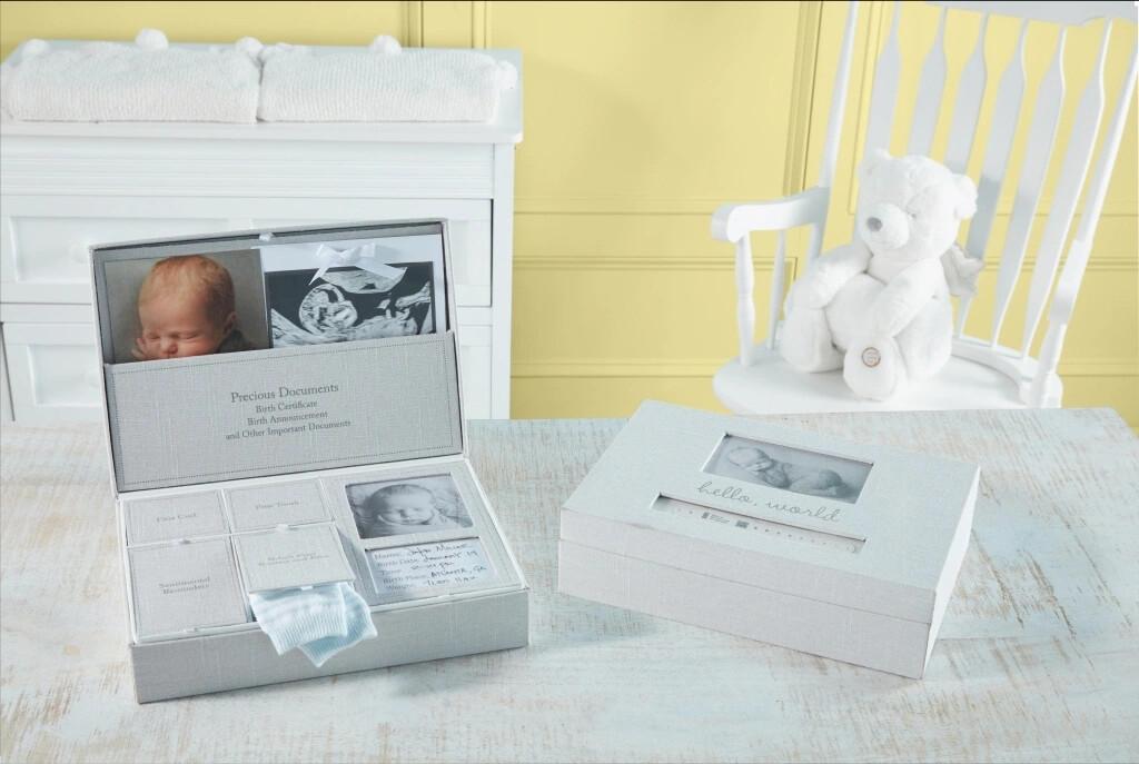 MudPie Baby Keepsake Photo Box