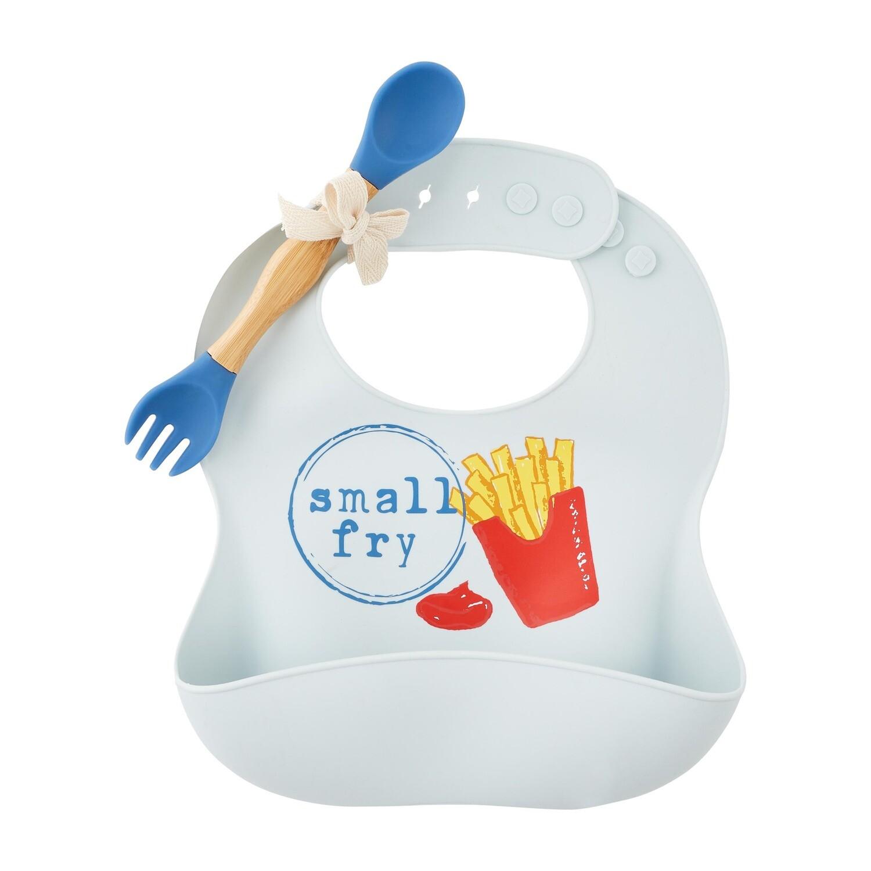 MudPie Small Fry Silicone Bib Set