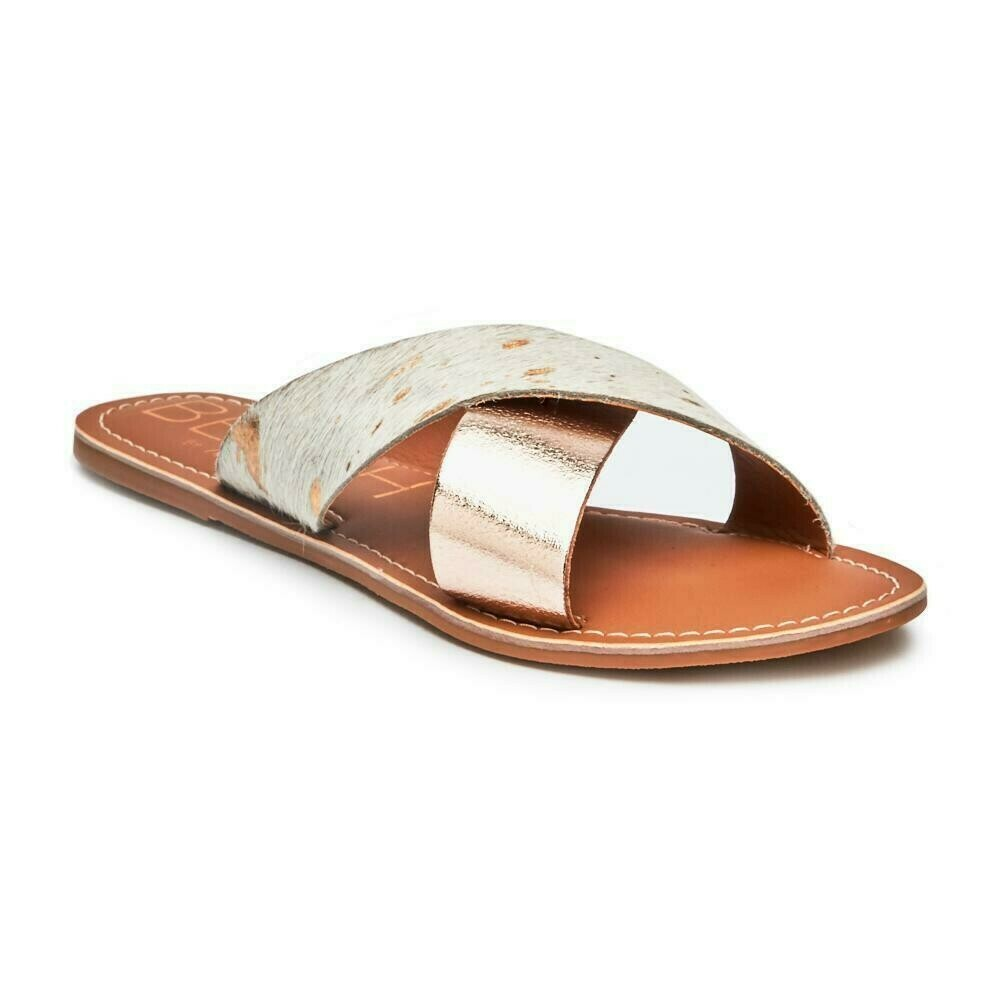 BEACH Lil Pebble Sandal Gold Spot/Cow Hair