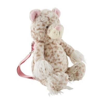 Mudpie Leopard Plush Backpack