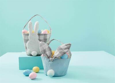 MudPie Gingham Easter Baskets- Boy
