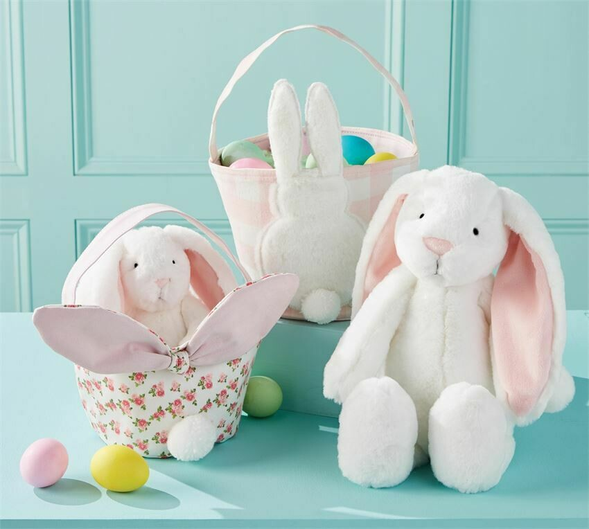 MudPie Gingham Easter Baskets- Girl