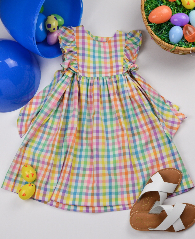 Sophie & Lucas Spring Gingham Dress