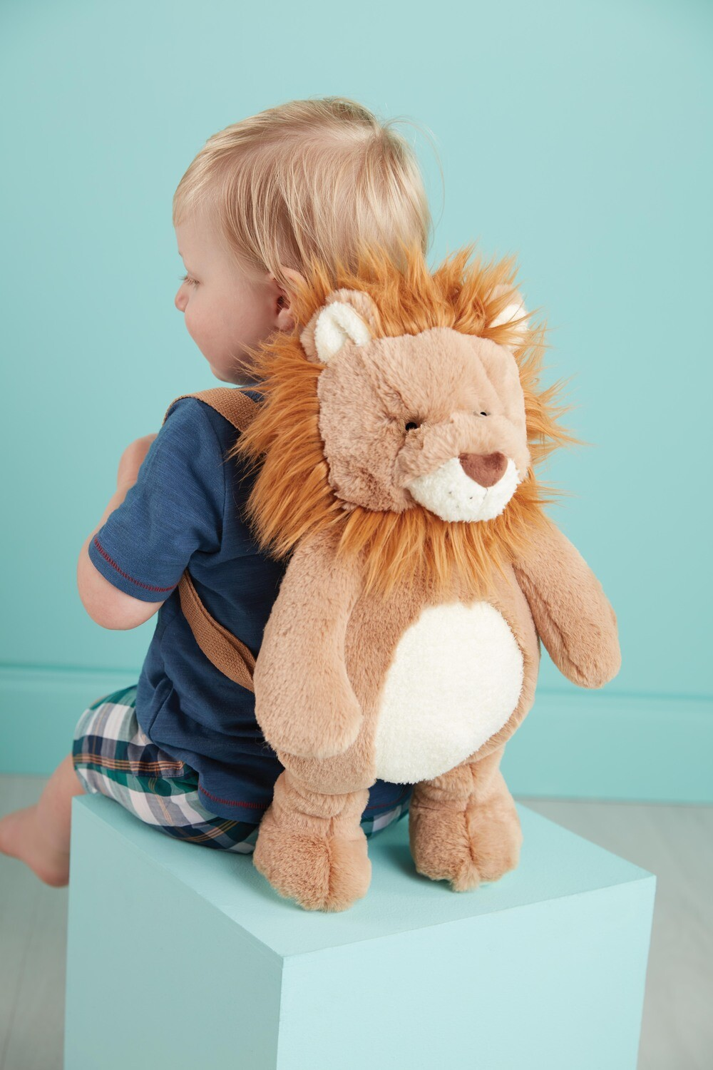 MudPie Lion Plush Backpack