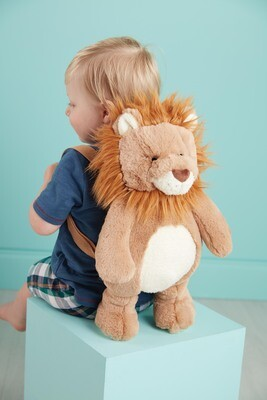 MudPie Lion Plush Backpack