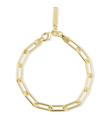 Sahira Carrie Paperclip Link Bracelet