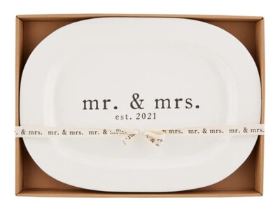 MudPie Mr. and Mrs. 2021 Platter