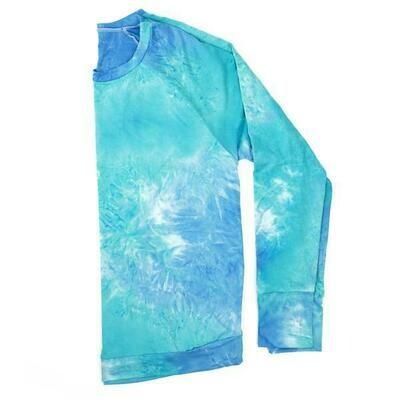 Hello Mello Dyes the Limit Lounge Top, Aqua