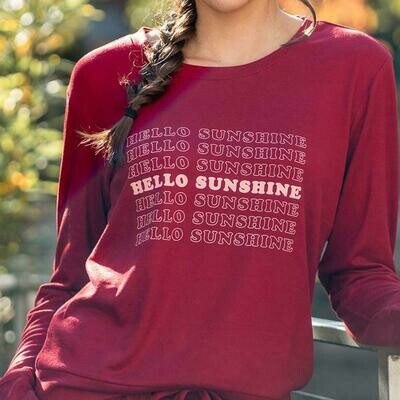 Hello Mello Best Day Ever Lounge Top, Sunshine