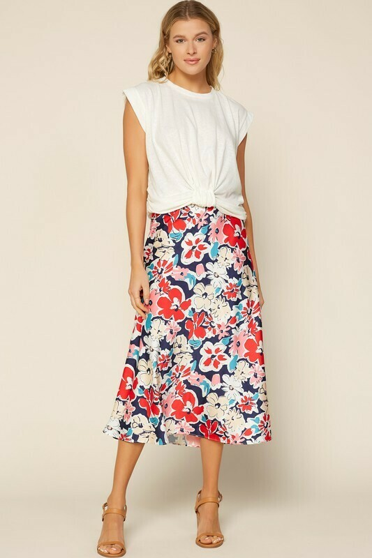 In Full Bloom Midi Skirt