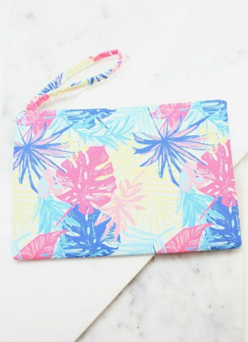Take Me To The Tropics Palm Pouch