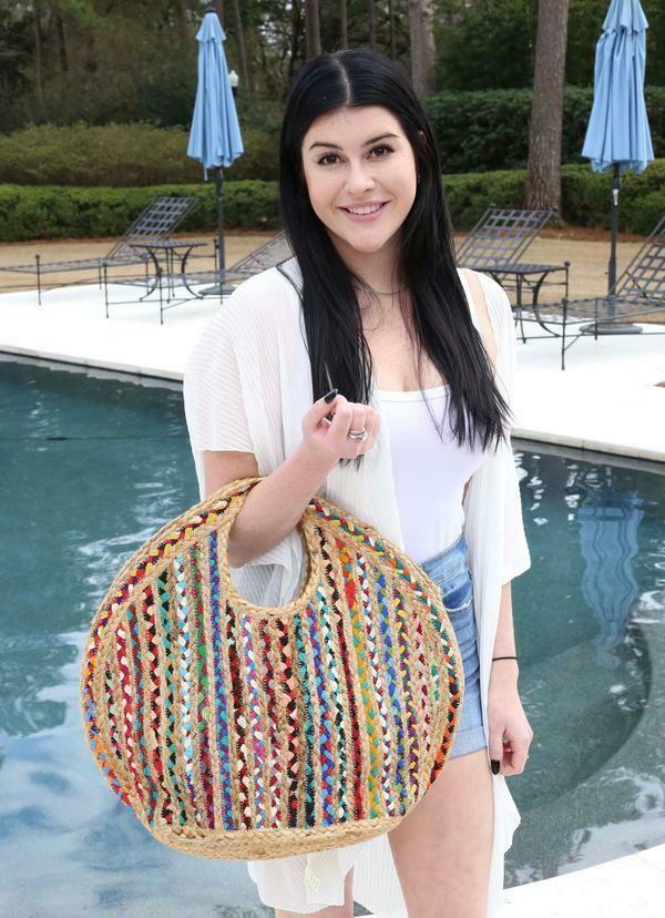 Charley Straw Braided Handbag