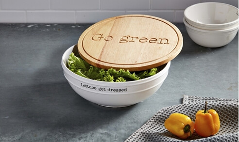 MudPie Salad Bowl & Lid Set