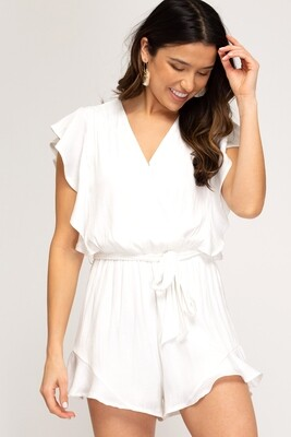 Gorgeous Gal Romper- White