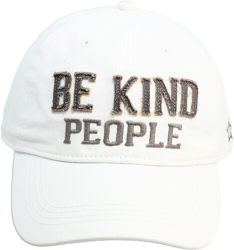 Be Kind People Hat- White