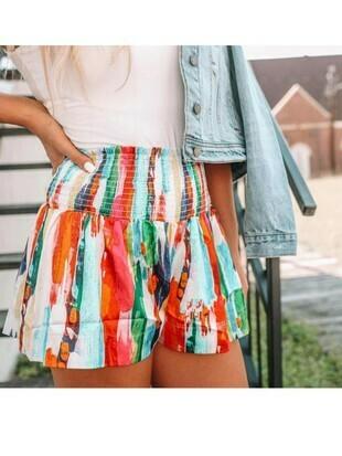 Judith March Rainbow Shorts