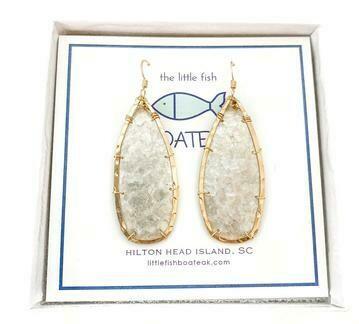 LittleFishBoateak Mother of Pearl Keel Earrings